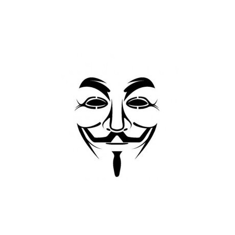 Guy Fawkes Mask Stencil Vector Free DXF File
