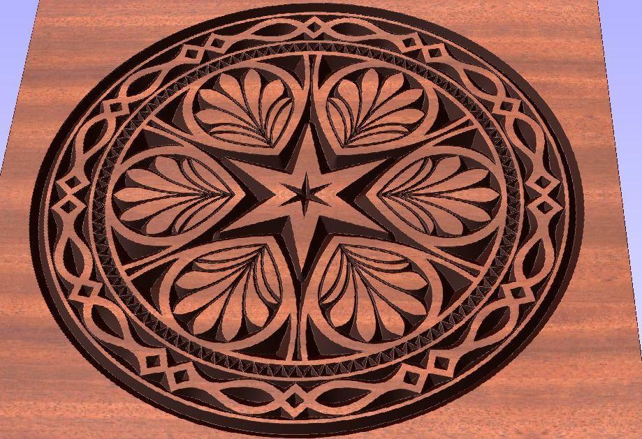 Laser Cutting Wood Engraving Design Free DXF File