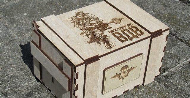 Airborne Decorative Box Laser Cut Free CDR Vectors Art