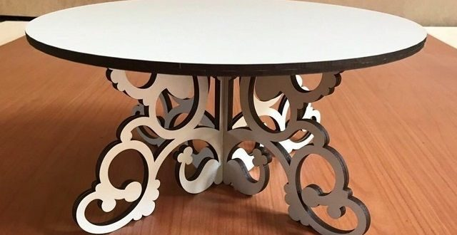 Cnc Laser Cut Cake Stand 6mm Mdf Free DXF File