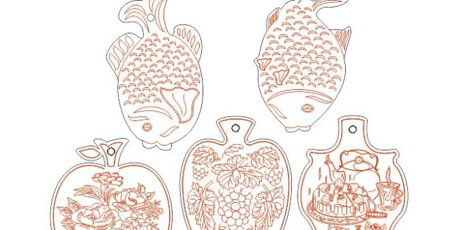 Decorative Meat Planks Layout Laser Cut Free DXF File