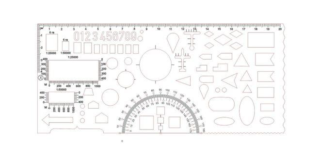 Geometric Ruler School Laser Cut Engrave Free DXF File