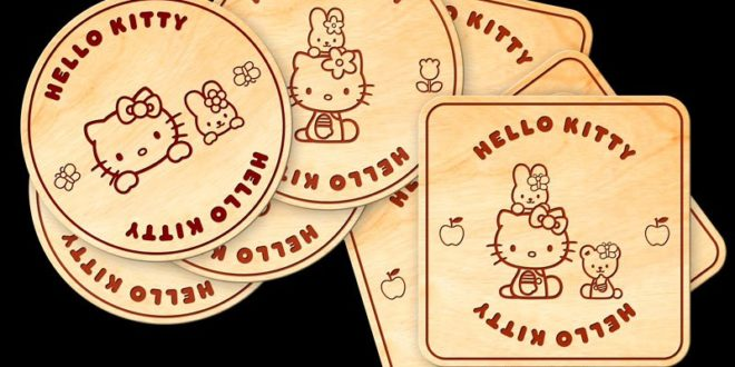 Hello Kitty Pack Laser Cuts Free DXF File