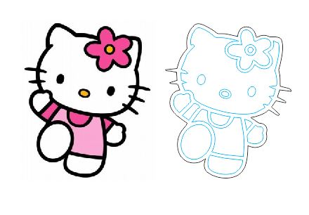 Laser Cut And Engraving Hello Kitty Cartoon Free DXF File