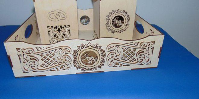 Laser Cut Decorative Trays Box Free CDR Vectors Art