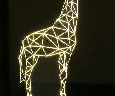 Laser Cut Engrave Giraffe 3d Illusion Acrylic Night Lamp Free DXF File