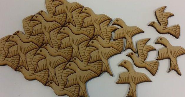 Laser Cut Engraving Puzzle Birds Free CDR Vectors Art