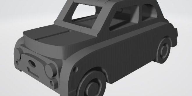 Laser Cut Fiat Nuova 500 Car Free DXF File