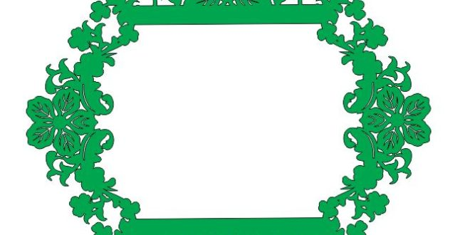 Laser Cut Frame Floral Leafs 4 Free DXF File