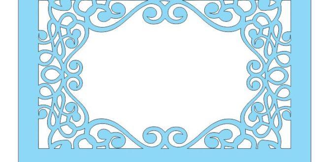 Laser Cut Frame Panel Floral Free DXF File