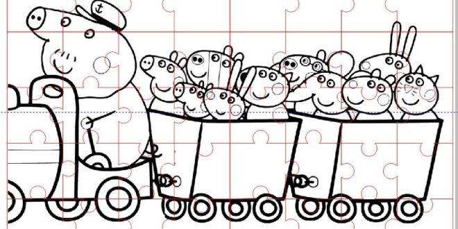 Laser Cut Peppa Pig Puzzle Kids Free CDR Vectors Art