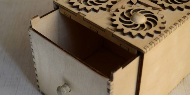 Sample Laser Cut Box 2 Template Free CDR Vectors Art