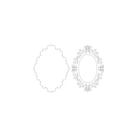 Mirror Frame 22 Free DXF File