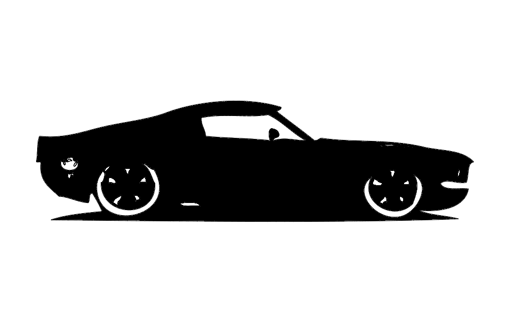1967 Ford Shelby Gt 500 Car Free DXF File