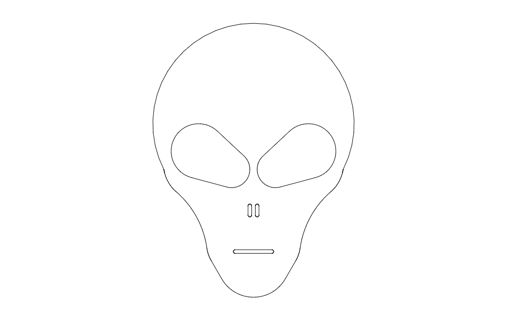Alien Head 2 Free DXF File
