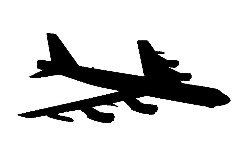 B 52 Aircraft Free DXF File