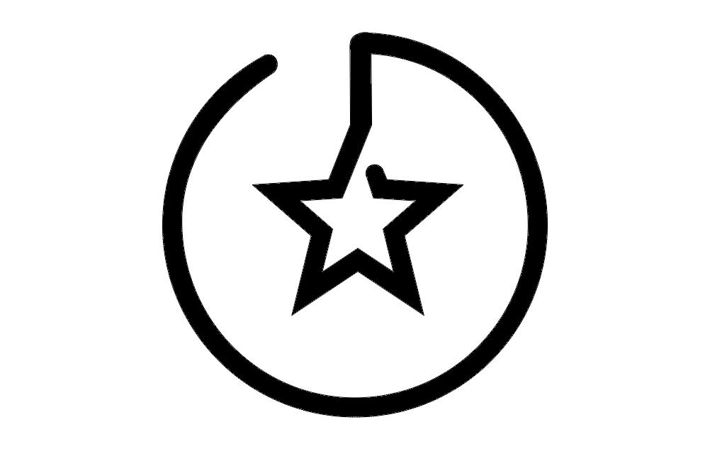 Branding Star Logo Free DXF File