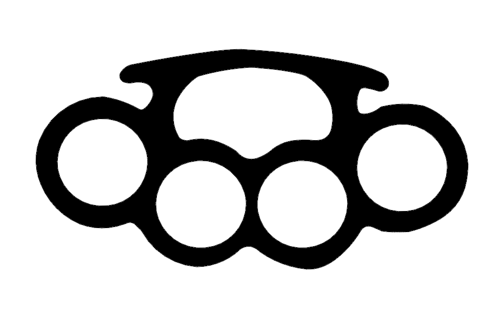 Brass Knuckles 3 Free DXF File