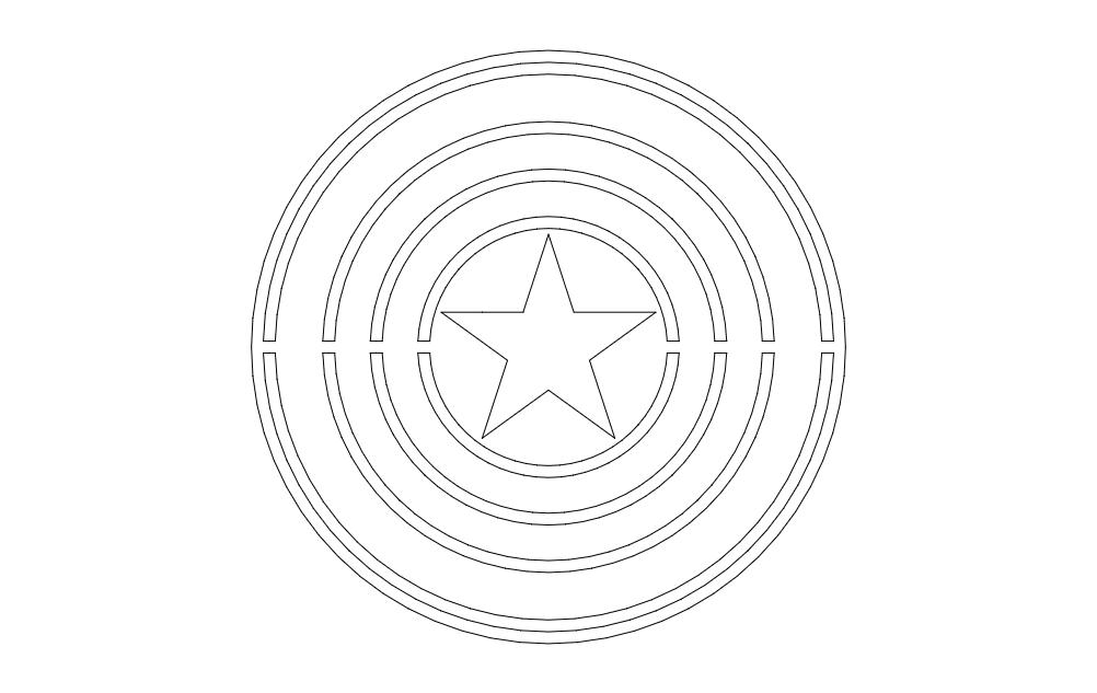 Captain Logo Free DXF File