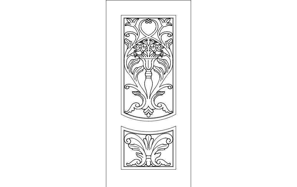 Door Design Art 88 Free DXF File