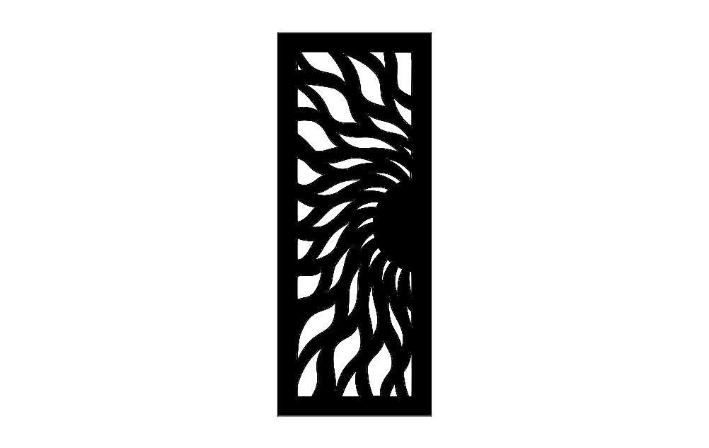 Door Design Pattern Dm Free DXF File