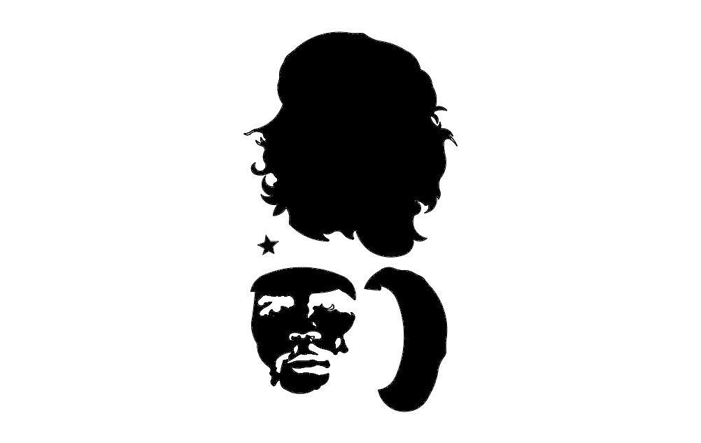 Guevara Silhouette Free DXF File