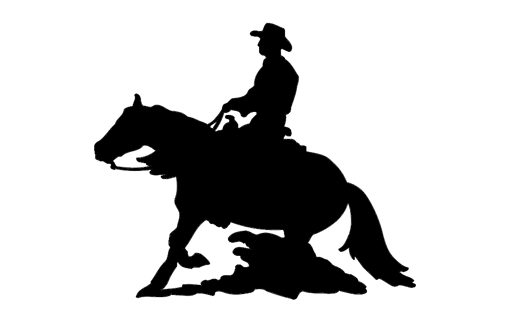 Horse And Rider Silhouette SX Free DXF File