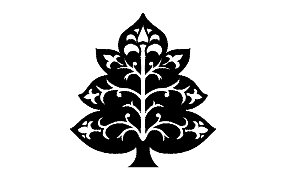 Nice Tree Decoration Free DXF File