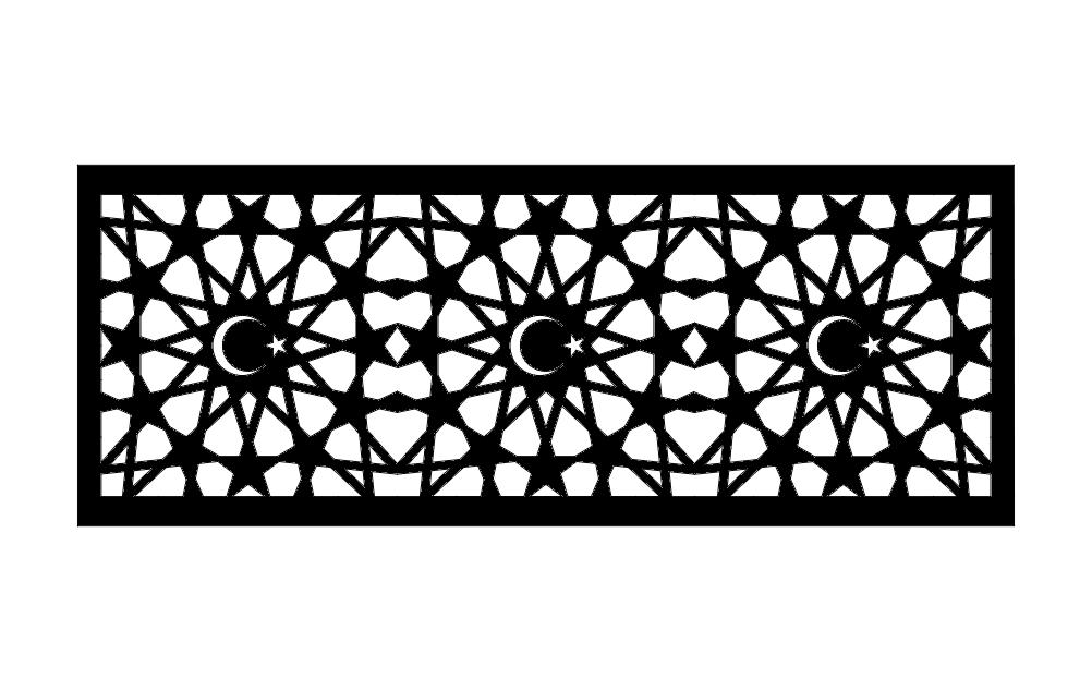 Osmanl Seperator Pattern Free DXF File