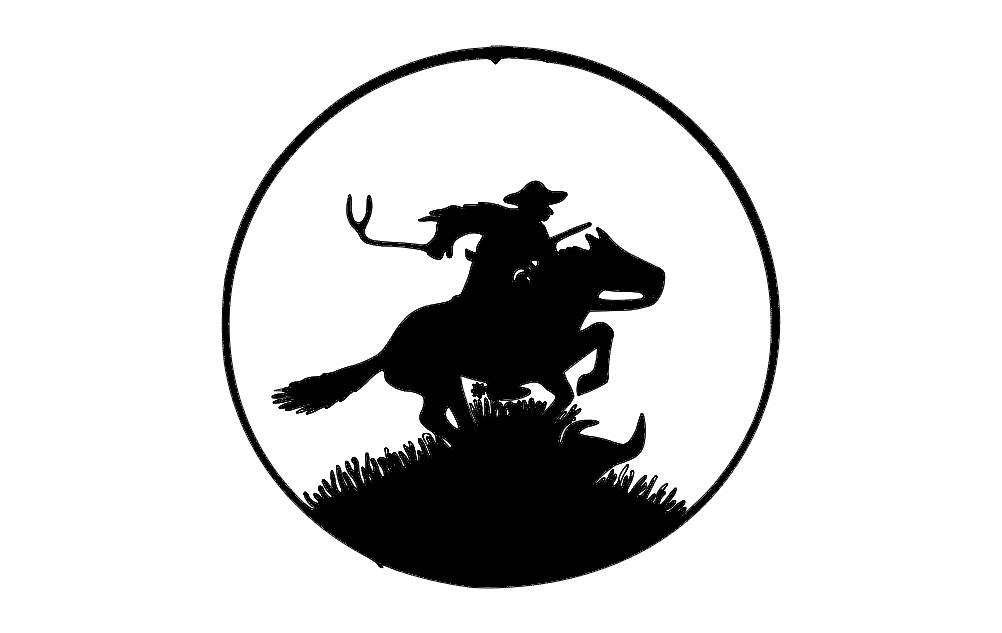 Pony Express Wheel Free DXF File