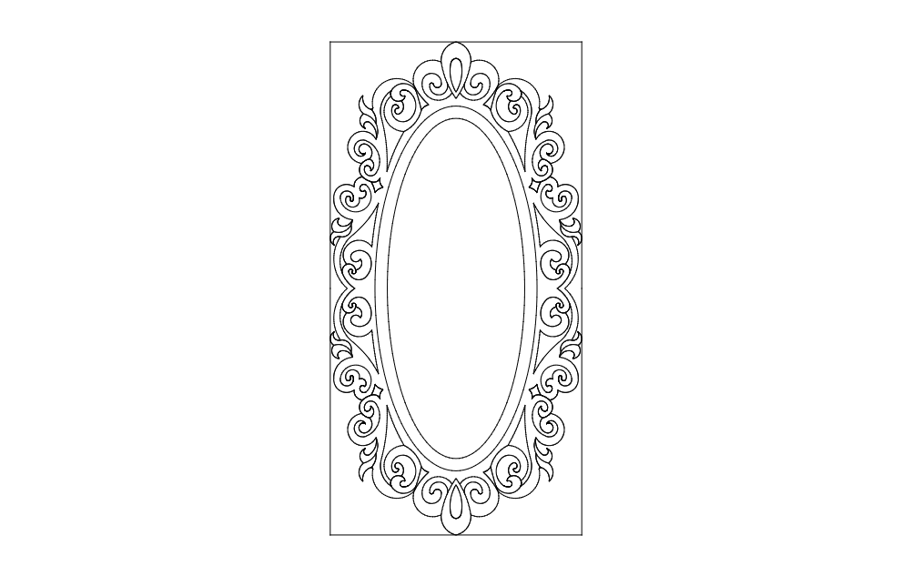 Site Ayna Oval Free DXF File