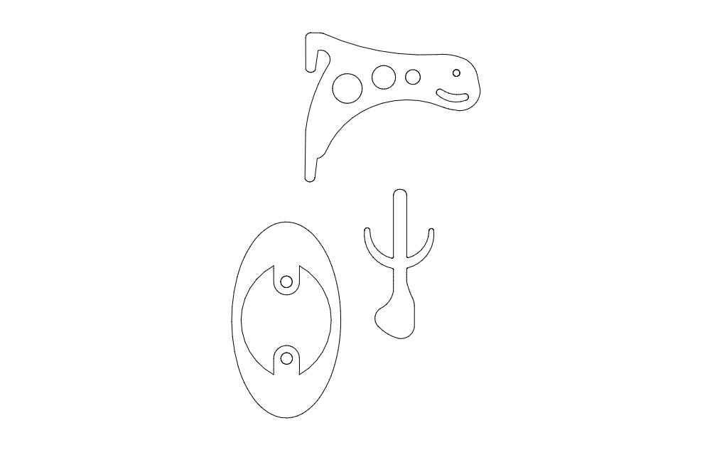Skull Holder Free DXF File