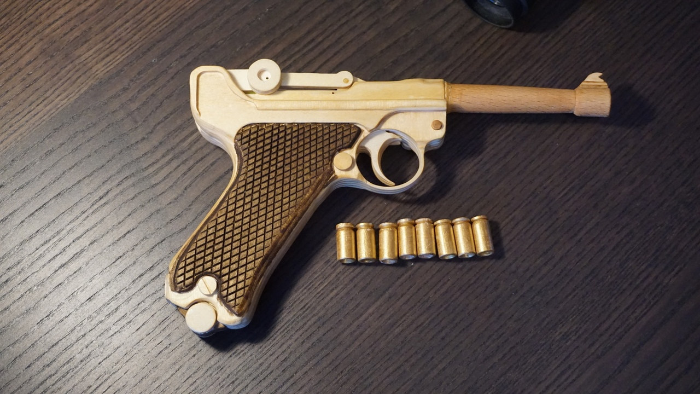 Cnc Laser Cut Design Pistol Model Free DXF File