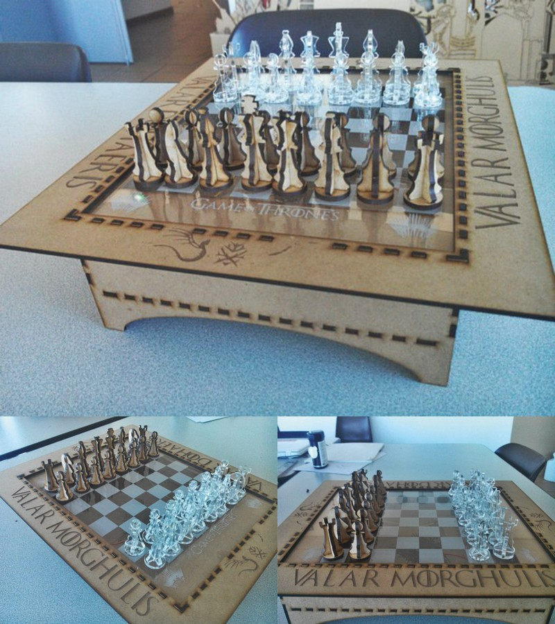 Cnc Laser Cut Design Wooden Chess Free DXF File