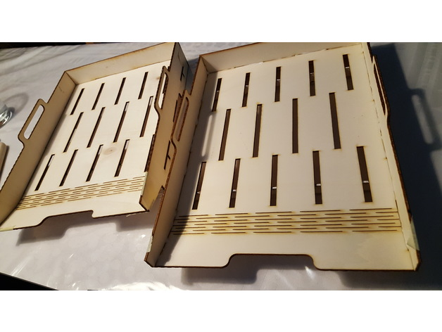 Cnc Laser Cut Design Wooden File Tray Free DXF File