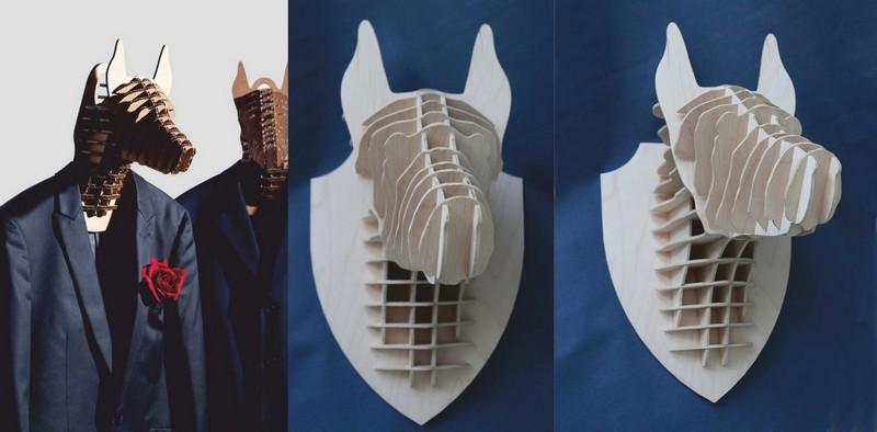 3d Puzzle Amazing Design Animal Head Free CDR Vectors Art