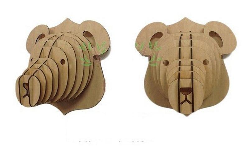 3d Puzzle Amazing Design Bear Head Free CDR Vectors Art