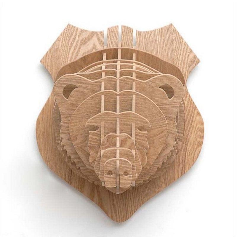 3d Puzzle Amazing Design Bear Free CDR Vectors Art