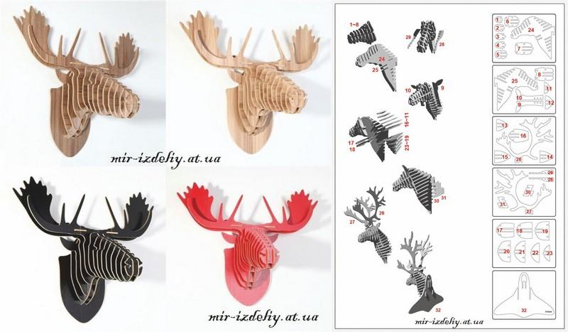 3d Puzzle Amazing Design Deer Collection Free CDR Vectors Art