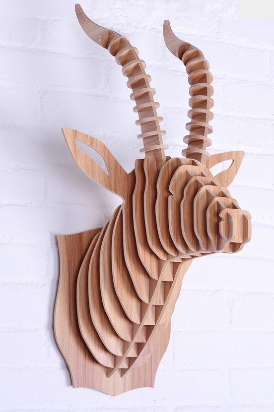 3d Puzzle Amazing Design Project Deer Head Free CDR Vectors Art