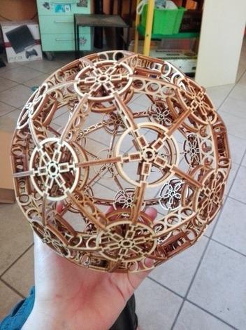 Cnc Laser Cut Design Beautiful Ball Free CDR Vectors Art