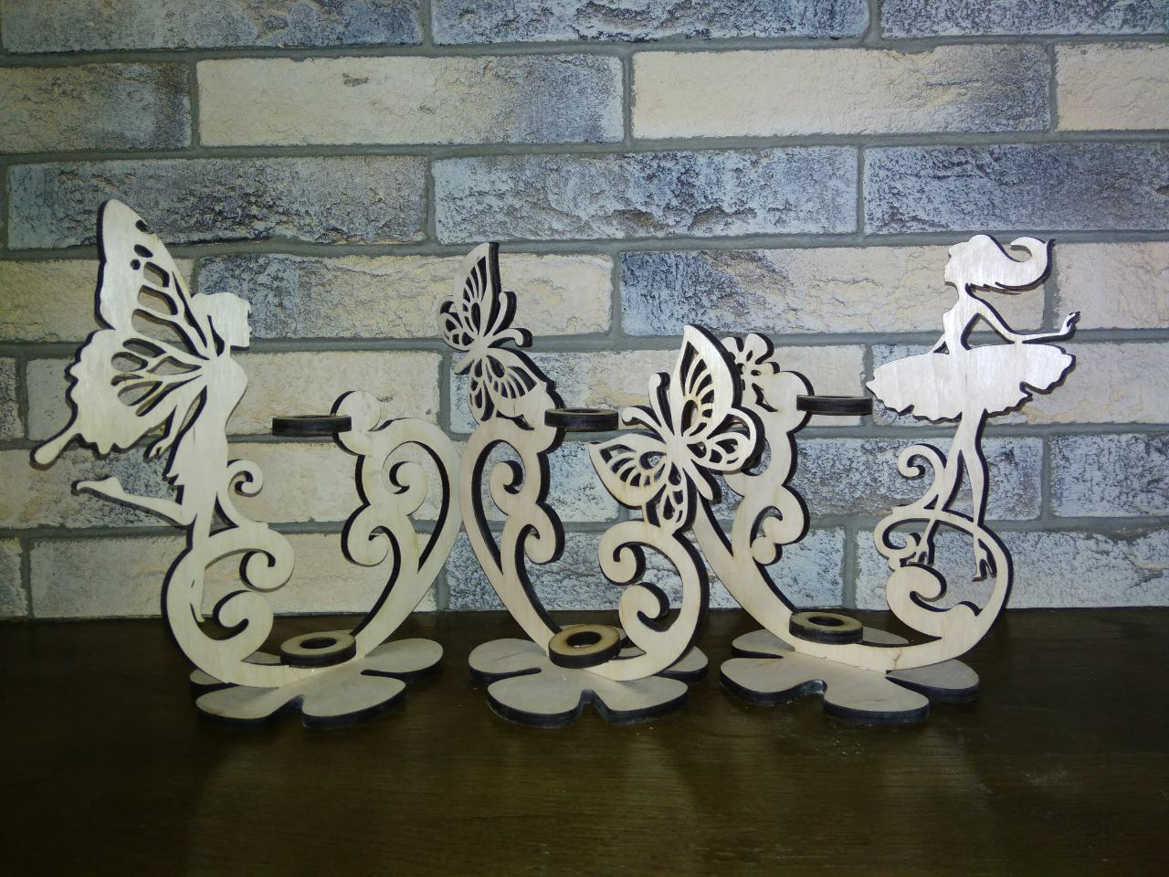 Cnc Laser Cut Design Girl And Butterfly Stand Free CDR Vectors Art