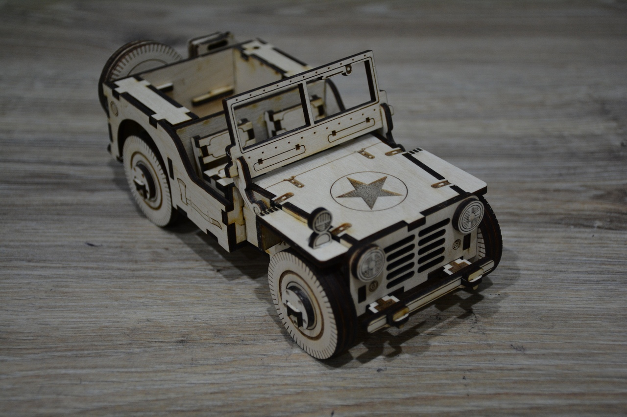 Cnc Laser Cut Design Jeep Vehicle Free CDR Vectors Art