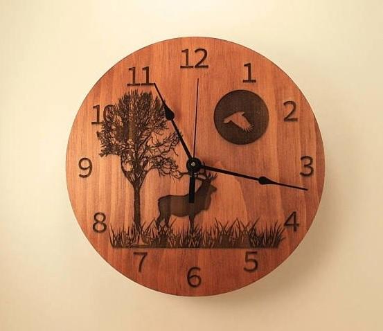 Cnc Laser Cut Design Moose Clock Free CDR Vectors Art