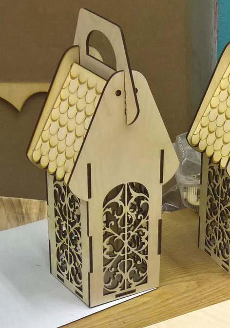 Cnc Laser Cut Design Of Tea House Free CDR Vectors Art