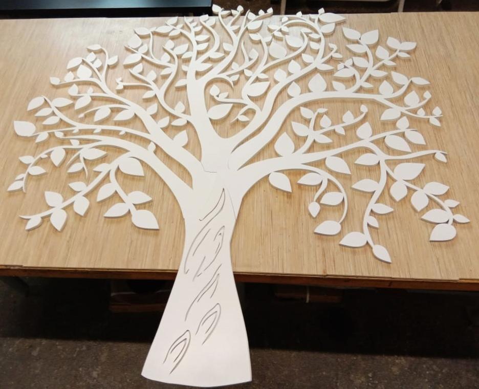 Cnc Laser Cut Design Tree  Free CDR Vectors Art