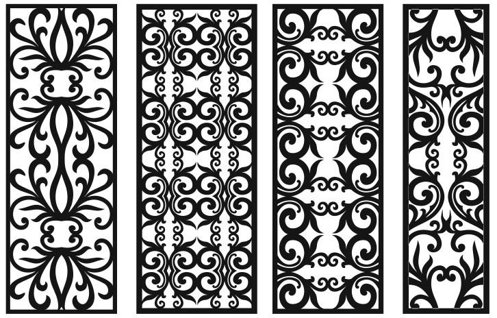 Grill Design Pattern Decoration 1 Free CDR Vectors Art