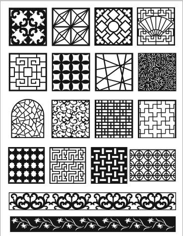 Grill Design Pattern Decoration 5 Free CDR Vectors Art