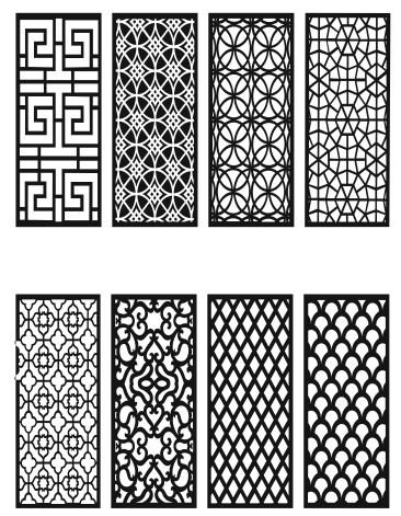 Grill Design Pattern Decoration 7 Free CDR Vectors Art