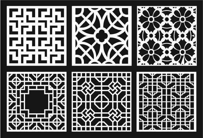 Grill Design Pattern Decoration 10 Free CDR Vectors Art